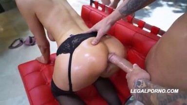 Legalporno - American Anal - Sexy all natural Gia Love will surprise you Airtight Creampie Cumfarts Gapes AA017