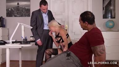 Legalporno - Glam porn - DPed Detective Layla Price screams creams while black cock fucks her ass GP136