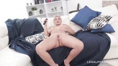 Legalporno - Gonzo - Busty latina slut Amaranta Hank double stuffed for the first time SZ2040