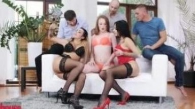 Dog House - 3 Couples Share Wives in Euro Swingers Orgy Porn Videos