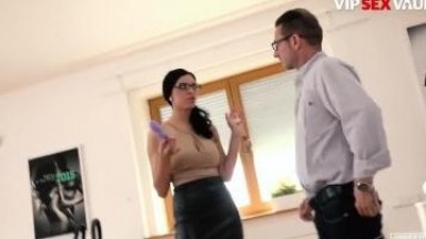 ExposedCasting - Kira Queen Busty Russian Brunette Gets Dicked Down On Camera - VIPSEXVAULT Porn Videos